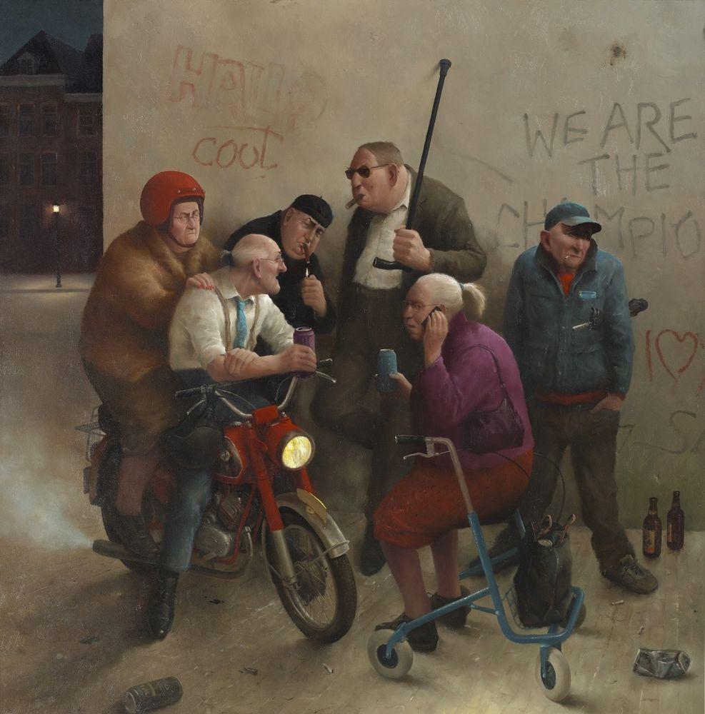 Когда старость в радость: оптимистичные работы голландского художника Marius van Dokkum, фото № 13