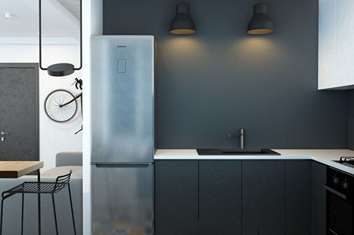 Минимализм – спасение для любой 6-метровой кухни.