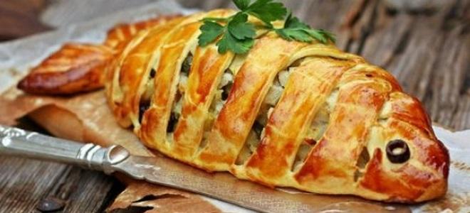 Пирог с рыбой — рецепты с ри…