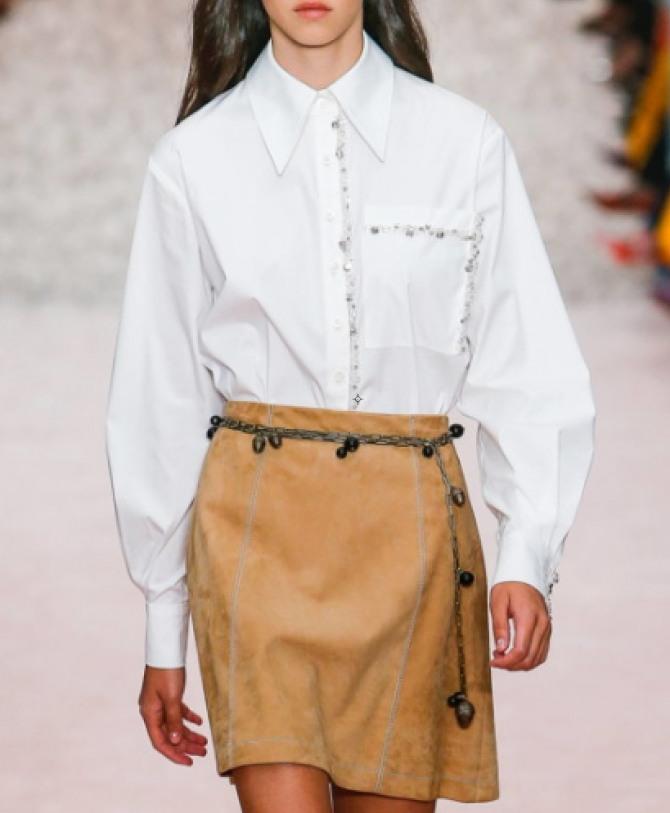 модная белая деловая блузка 2019 для девушек