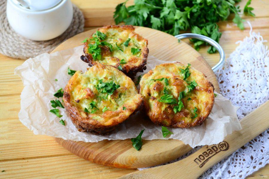Маффины с кабачком и сыром