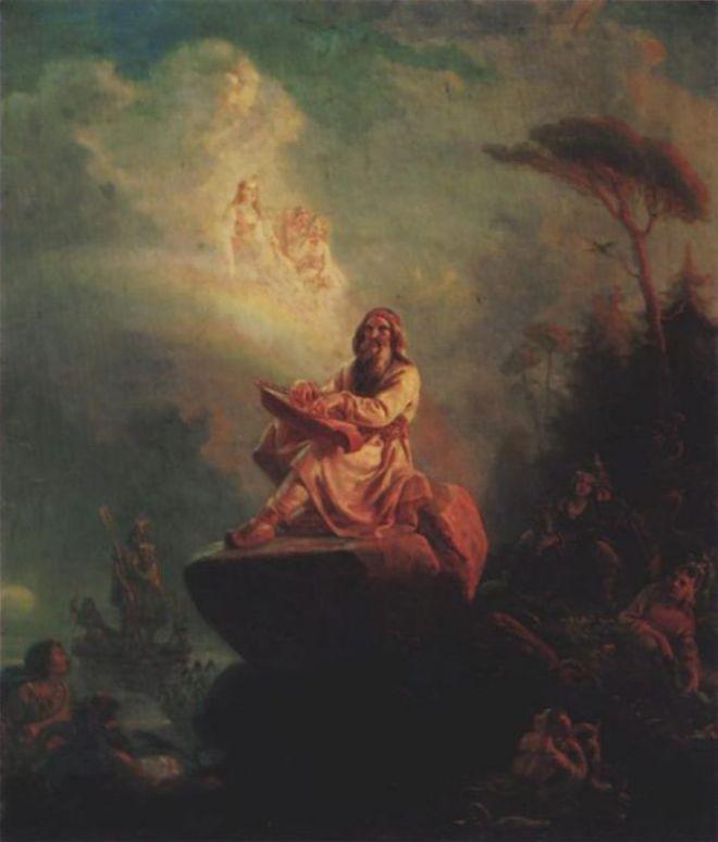 Мудрец сидит на камне
