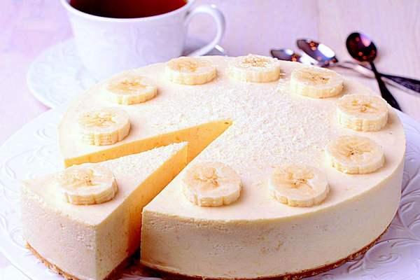 Творожно-банановый чизкейк б…