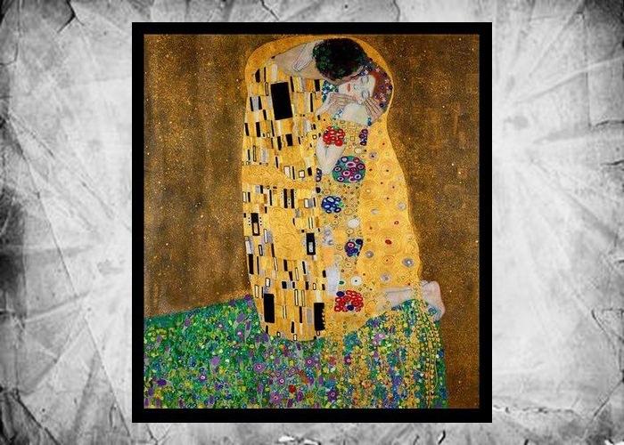 Фрагмент картины Густава Климта «Поцелуй», 1907-1908 годы.