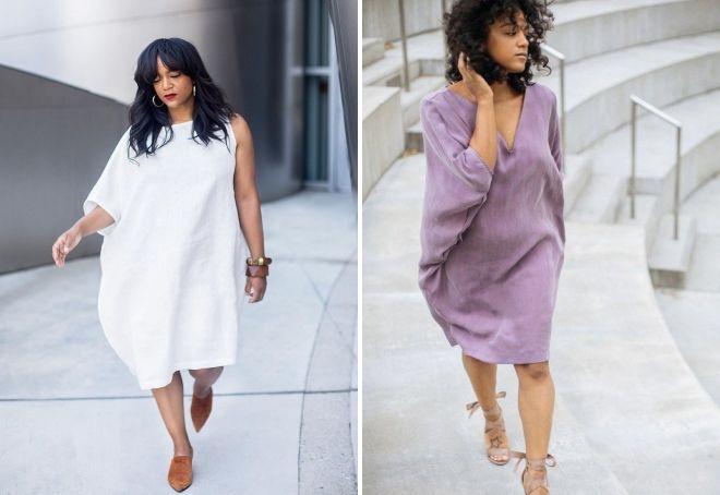 платье оверсайз для женщины 40 лет