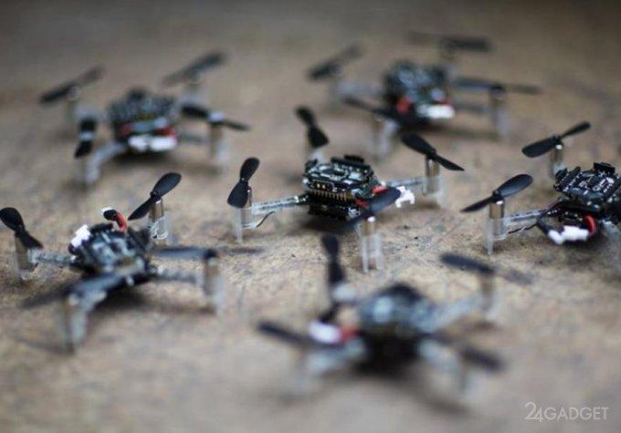Создан алгоритм предотвращающий столкновения в рое дронов будущее,видео,гаджеты,ИИ,наука,роботы,Россия,техника,технологии,электроника