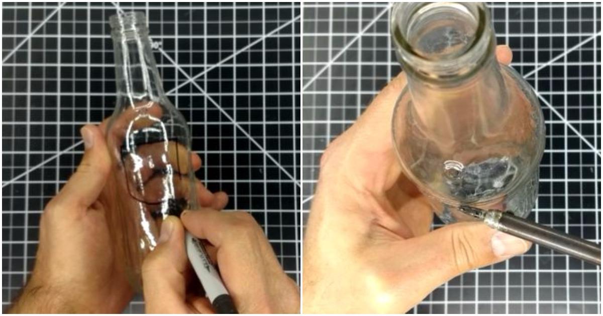 Простой способ проделать в стеклянной бутылке отверстие любой формы