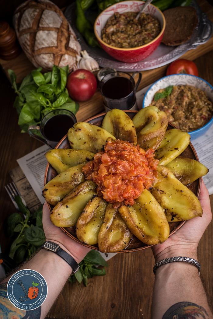 Икра из «синих» или пару слов о счастье. Из Одессы с морковью, Еда, Кулинария, Рецепт, Длиннопост, Фотография, Баклажан, Икра баклажанная