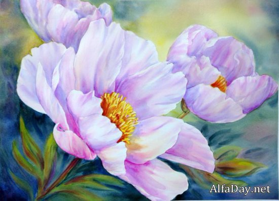 Ошеломляющие цветы художницы Marianne Broome