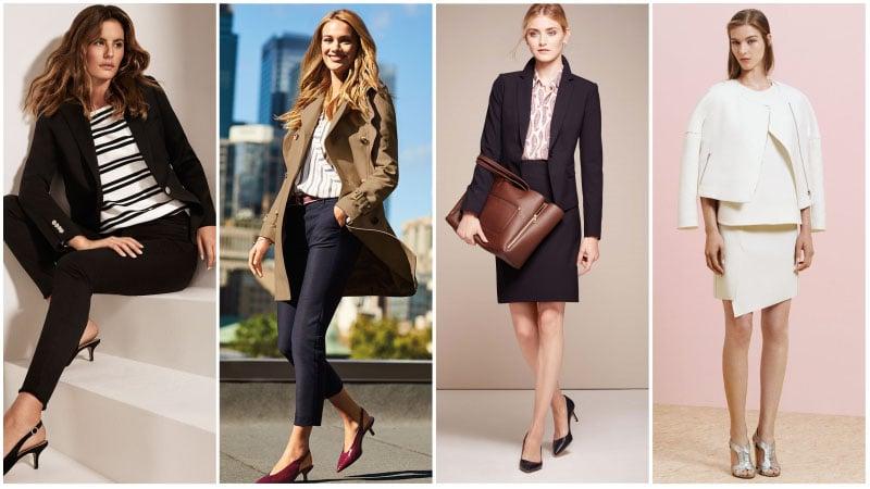 Девушки в деловых тренчах