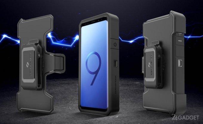 ZeroLemon продает для Galaxy S9+ и S9 чехол с батареей повышенной ёмкости (3 фото)