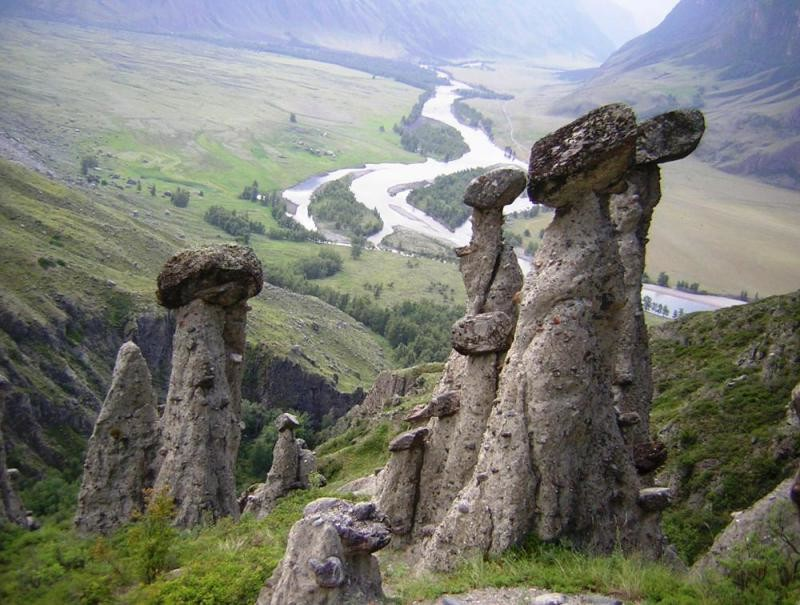 5. Каменные грибы на Алтае. интересно, история, камни, скалы, факты, чудеса света