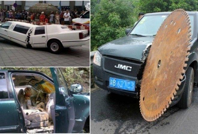 Самые нелепые ситуации на дорогах