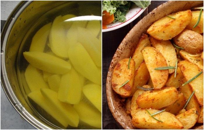 Картофель должен быть мягкий внутри и хрустящий снаружи