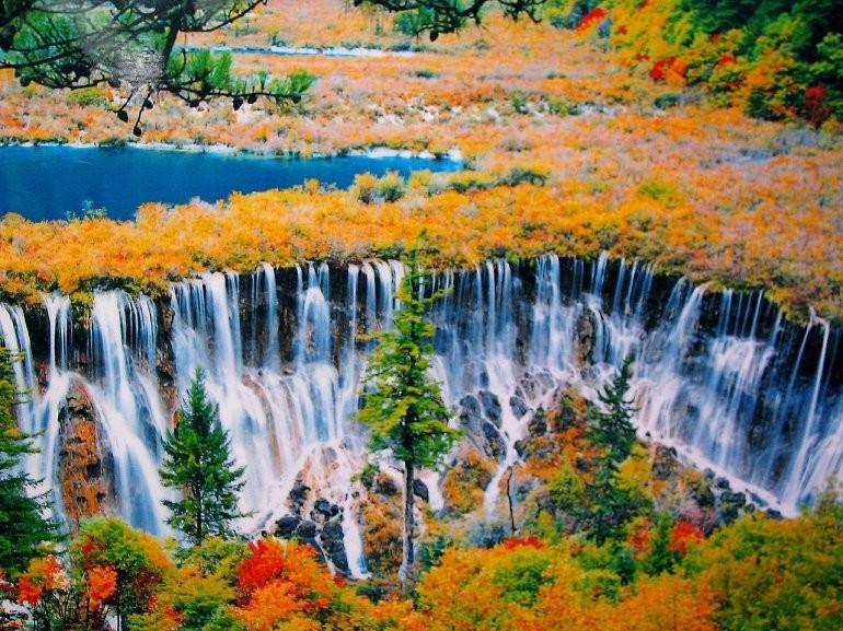3. Цзючжайгоу, ущелье девяти селений, Китай. красивые места, прекрасная планета, чудеса природы