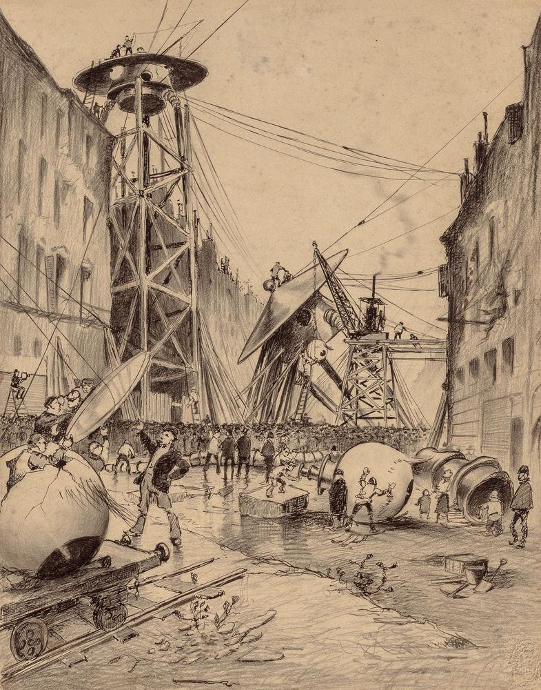 Люди и марсианские военные машины Герберт Уэллс, война миров, иллюстрации, история