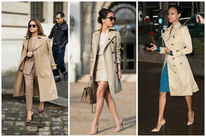 Классика жанра - бежевый тренч. / Фото: fashion-likes.ru