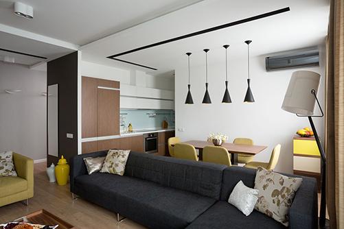Кухня-гостиная от интерьерной мастерской Сергея Махно