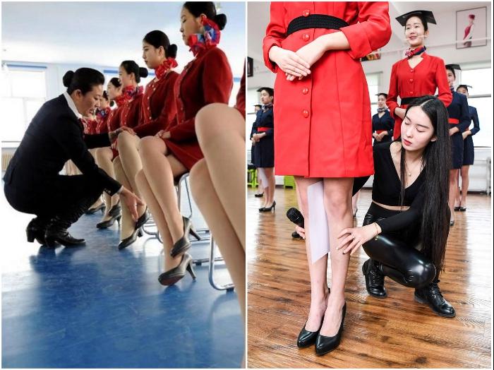 Курс молодого бойца и истязания: как готовят китайских стюардесс Китай,стюардессы,транспорт