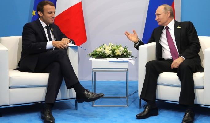 Путин отбил грубые нападки Макрона