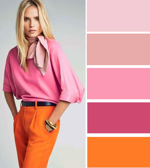 Модные цветовые схемы с оранжевым в одежде