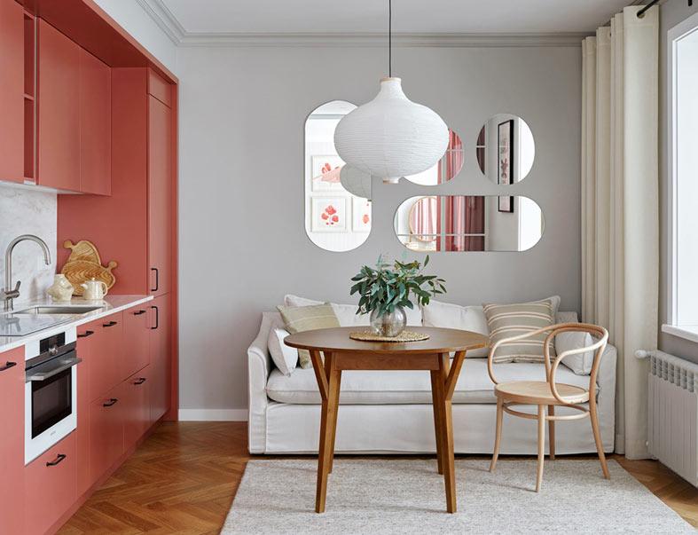 Милая квартира с женственным дизайном в Алма-Ате