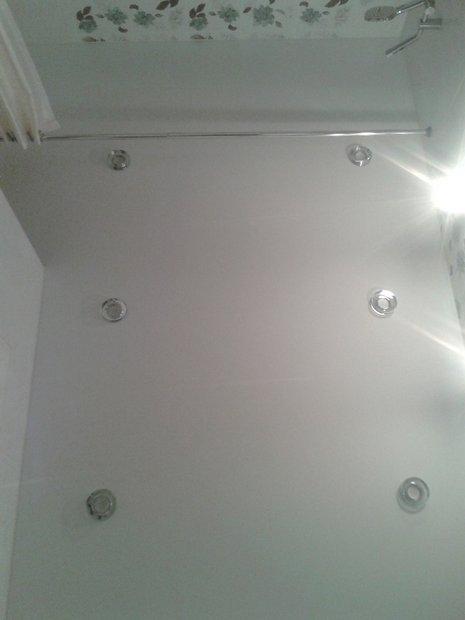 Ремонт в ванной комнате: шкафы и цветы Фото