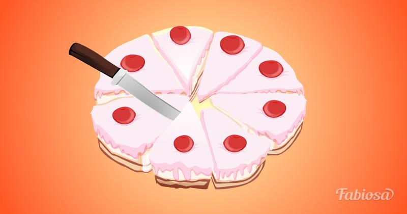 рисунок тортов разрезные шаблоны