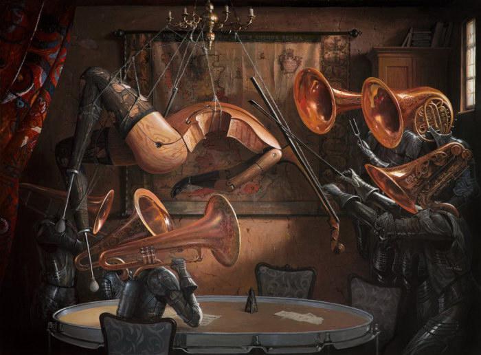 Румынский художник создает картины, полные тайн и скрытых смыслов
