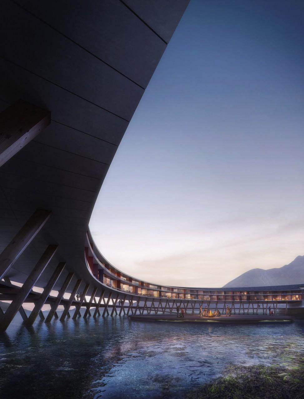 Отель на солнечных батареях в арктическом климате архитектура