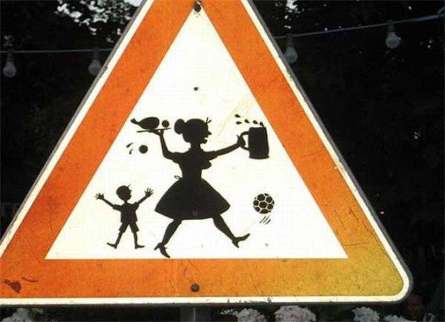 Самые необычные дорожные знаки в мире дорожные знаки