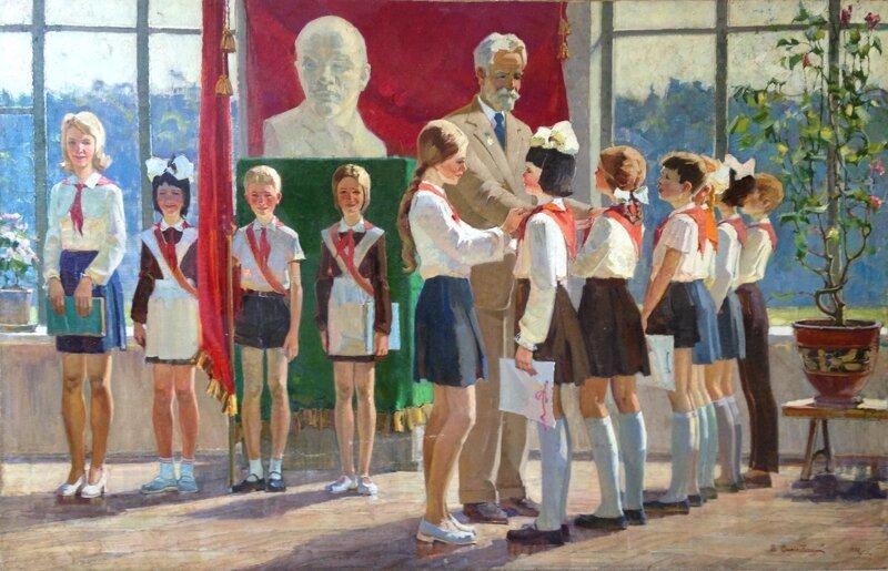 Зарисовки советской жизни Живопись