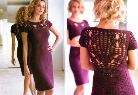 Необычное платье с ажурной спинкой