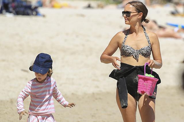 Натали Портман отдыхает в Австралии вместе с семьей Звездные дети