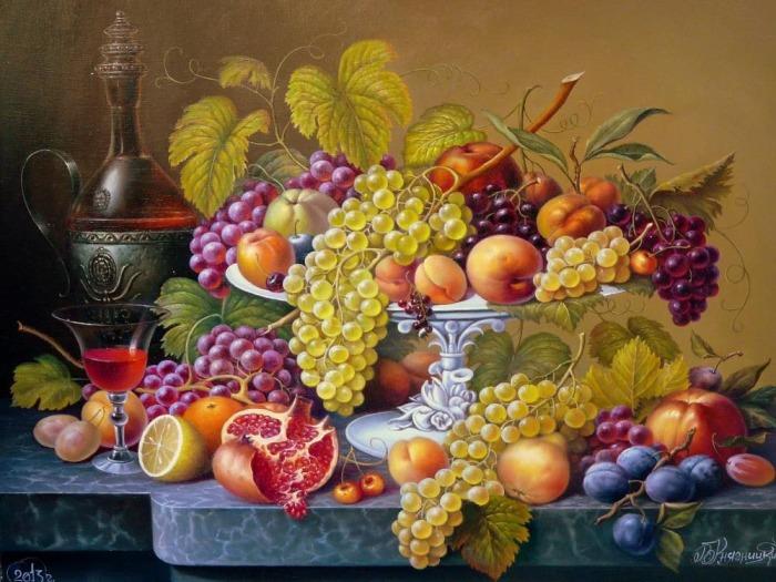 Натюрморт с вином. Автор: Владимир Княгницкий.