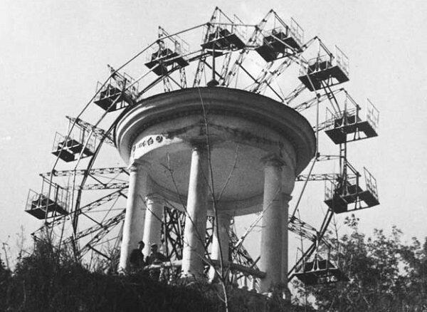 2. Колесо обозрения, 1966 год СССР, парковые аттракционы, советские аттракционы, фото