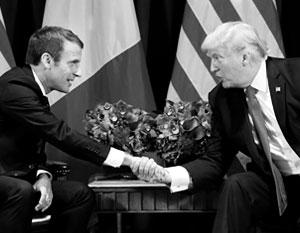 Трамп и Макрон договорились принять меры против России из-за Скрипаля