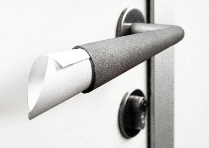 дверная ручка с местом для записок