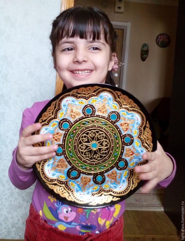 Декоративная тарелка в восточном стиле своими руками