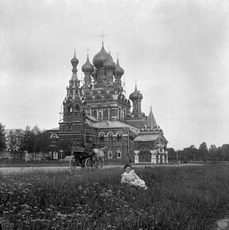 Церковь Святой Живоначальной Троицы в усадьбе Шереметевых Останкино под Москвой история, ретро, фото