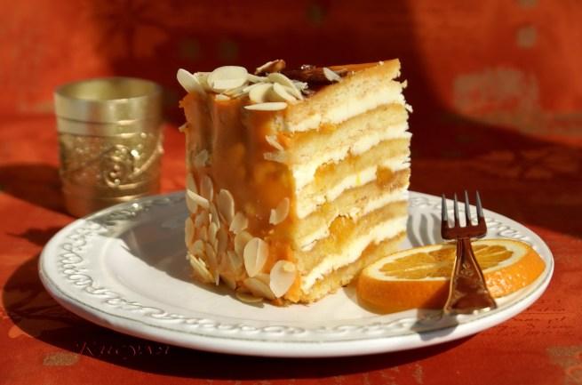 Песочный торт «апельсин»