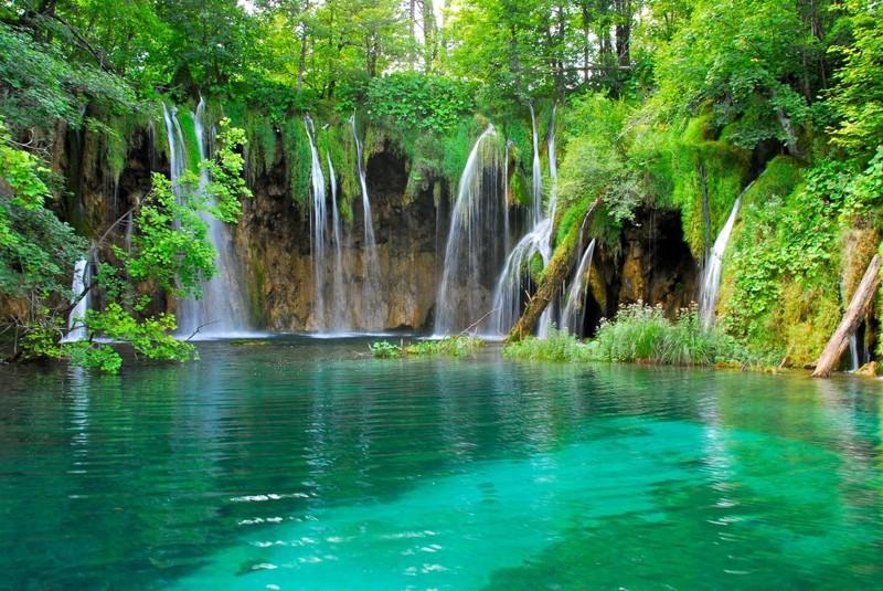 9. Плитвицкие озера в Хорватии красивые места, прекрасная планета, чудеса природы