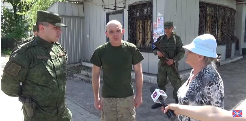 Пленного ВСУшника провели по улицам Донецка (видео)