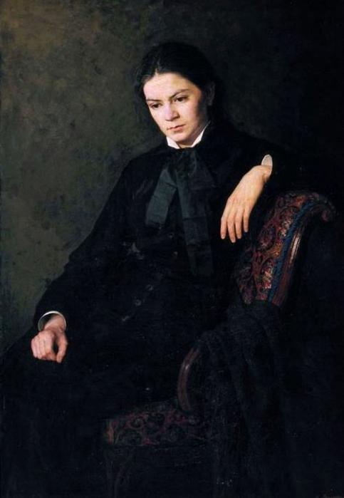 «Портрет неизвестной». (1881 год). Автор: Н. Ярошенко.