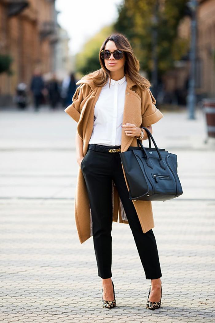 прямой крой брюк
