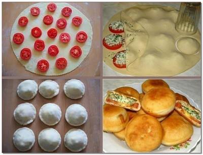 Вкусные пирожки из хрустящего теста