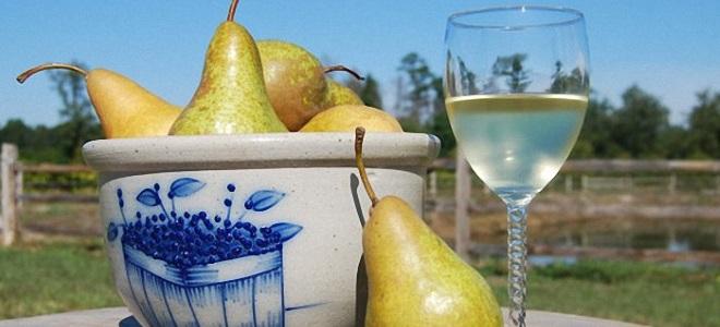 Грушевое вино без сахара