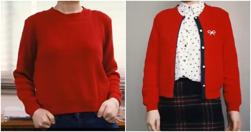 Стильная переделка старого свитера — идеальный вариант на весну