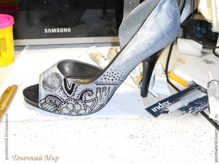 обувь с росписью