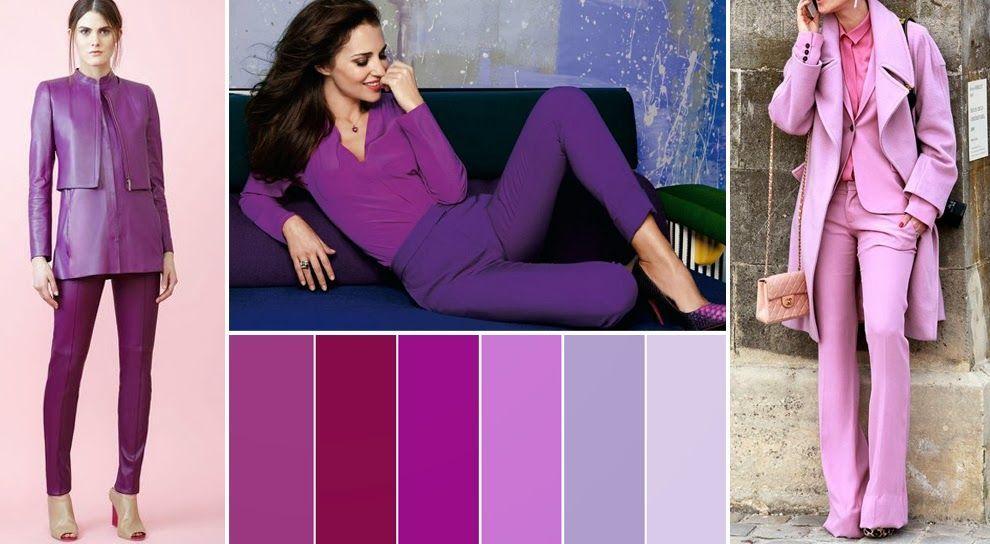 Основные оттенки фиолетового